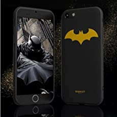 BANSKEY Batman ; Ironman & Superman trasparente in poliuretano termoplastico per iPhone-Cover per Apple iPhone 5, 5S, 5C, 6/6S , 6+,7 (iphone 6/6s, Yellow)