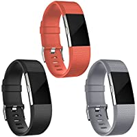Fur Fitbit Charge 2 Armband,SnowCinda Verstellbares Ersatzarmband TPU Design Sport Bands Fitness Zubehor fur Fitbit Charge 2 SmartWatch