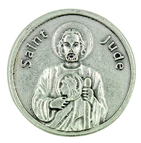 Patron of Impossible Causes Saint St Jude Pocket Token with Prayer Back by HLT