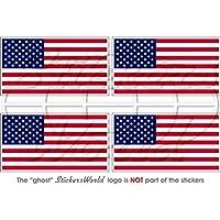 Usa stati uniti America bandiera americana 5,1cm (50mm) bumper-helmet adesivi in vinile, decalcomanie