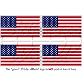 Lot de 4 autocollants en vinyle pour casque/pare-chocs Motif drapeau américain USA 50 mm