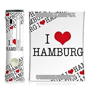 DeinDesign Microsoft Xbox Folie Skin Sticker aus Vinyl-Folie Aufkleber Hamburg Herz Heart