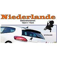 MAPS - Länder Autoaufkleber Silhouette ***NIEDERLANDE*** 12cm x 14cm (Farbauswahl)