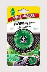 Idea Regalo - Arbre Magique Belair Sensation, Deodorante Gel per Auto, Fragranza Green Forest, Effetto Lunga Durata, Intensità Regolabile, Design Made in Italy