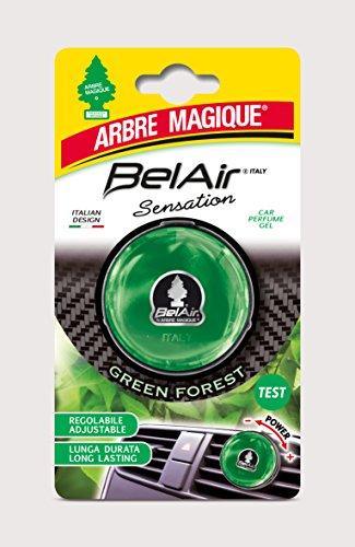 Arbre Magique Belair Sensation, Deodorante Gel per Auto, Fragranza Green Forest, Effetto Lunga Durata, Intensità Regolabile, Design Made in Italy
