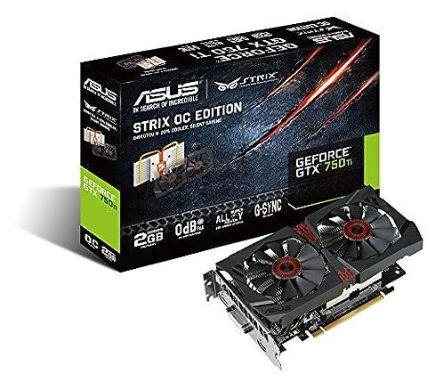 Nvidia Gtx 750 Ti - Asus STRIX-GTX750TI-OC-2GD5 Carte Graphique Nvidia 2 Go