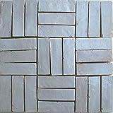 20Stk. Cotto Brikett Bodenplatte weiß Bodenfliesen Fliesen