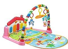 Idea Regalo - SURREAL (SM) 3 in 1 Pianoforte per bambini PlayMat Musica e luci - rosa…