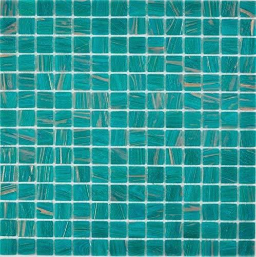 Glasmosaik türkis grün Wand Boden Küche Dusche Bad Fliesenspiegel |WB230-GA67|1Matte -