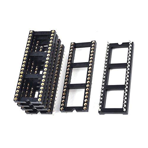 Pins Steckdose - TOOGOO(R)6 x 2.54 mm Rastermass 40 Runde Stifte zweireihig DIP IC Sockel Adapter Lot Ic-adapter