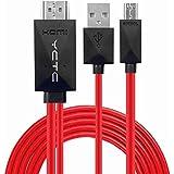 yctc 2m 1080p HD Micro USB 11pin a HDMI cable adaptador HDTV para Samsung Galaxy S5, S4, S3, Note4, Note3, Note2, Galaxy Tab 38.0, Tab 310.1, Tab PRO, Galaxy Note 8, Note Pro 12.2