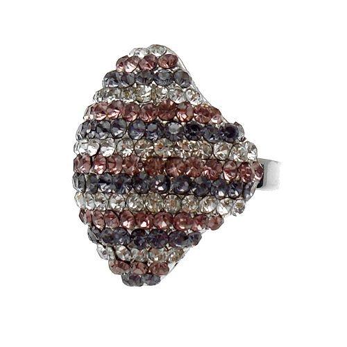 Acosta-cupola, a forma di diamante, con Tanzanite e ametista &-Anello in cristalli trasparenti, in confezione regalo