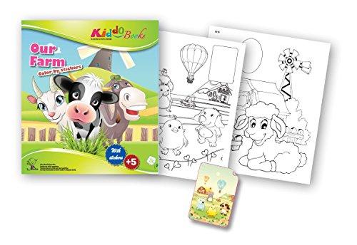 Juguete quac kduck libro para colorear Our Farm – Color by Stickers ...