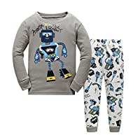 Boys Pajamas Cotton PJS Toddler Sleepwear Bottoms Sets Clothes for Kids Size 1 2 3 4 5 6 T - - 12-24 Months