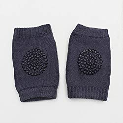 New Kids Safety Elbow Crawling Cushion Knee Protector Knee Pad ( Dark Gray)