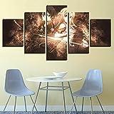 Dmyho 5 Stück Modern Leinwände Malerei Wall Sword Art Online Dekorative Gemälde Home Bett Hintergrund Auf Leinwand Drucken,A,30X40x2+30X60x2+30X80x1