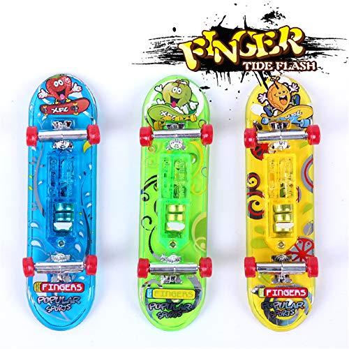 Sipobuy 3 stücke Mini Skateboard Spielzeug Deck LKW Griffbrett Skate Park Mit Licht, Junge Kids Kinder Geschenk