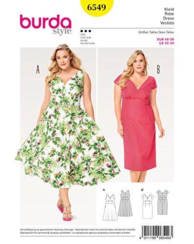 Gebraucht, Burda 6549 Schnittmuster Kleid (Damen, Gr. 46-56) Level gebraucht kaufen  Wird an jeden Ort in Deutschland