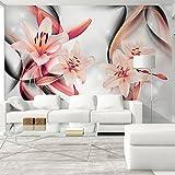 murando - Fototapete 150x105 cm - Vlies Tapete - Moderne Wanddeko - Design Tapete - Wandtapete - Wand Dekoration - Lilien Blumen b-A-0267-a-c