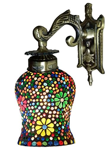Weldecor Antiqua Brasso Nightangle Lamp Wall Lamp (30 cm, M...