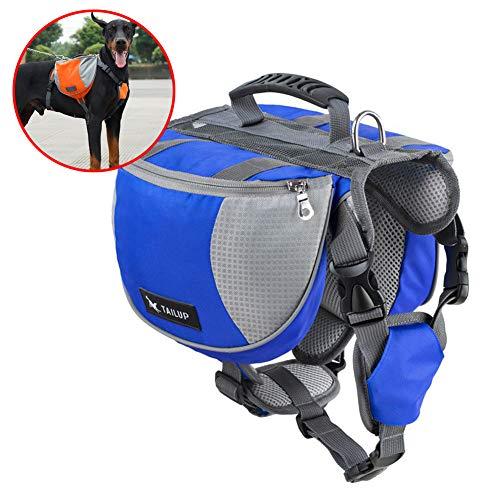 C αγάπη Ζ Hundetracksack, Hundesatteltasche für Hundetraining, Hundegewicht für besseres Laufen,Blau,S