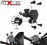 Allxpert AL-12 X-Grip Bike Mobile Charger & Phone Holder Version 2 for All