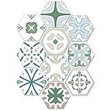 GZZ Dekoration Aufkleber Continental Einfache Stil Bodenaufkleber, Selbstklebende DIY Fliesen Renovierung Aufkleber, Home Küche Badezimmer Dekorative Aufkleber,20 * 23 cm,10 Stück
