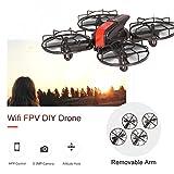 Mobiliarbus 0.3MP Caméra WiFi FPV DIY Drone Altitude Tenir 3D Flip Quadcopter RC Jouet Enfants Cadeau