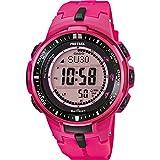 Casio - PRW-3000-4BER - Montre Mixte - Quartz - Digitale - Bracelet Résine Rose