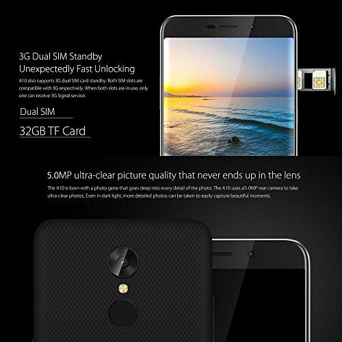 Blackview A10 Smartphone 3G WCDMA MTK6580A Quad Core 1 3GHz Smartphone 5 Pulgadas HD 1280   720Pixels Android 7 0 2GB RAM   16GB ROM 2MP   5MP C  mara