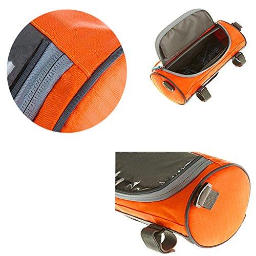 PINKAH Fahrrad-Touchscreen-Taschen, wasserdichte Lenkertaschen Orange