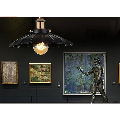 LOFT industriale vintage Lampadario creativo Cafe ristorante bar bar Lampadario negozio pot caldo negozio esclusivi lampadari 350 (MM0