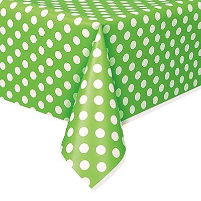 Plastic Polka Dot Tablecloth, 9ft x 4.5ft - low-cost UK light shop.