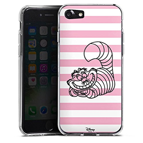 Apple iPhone SE Hülle Case Handyhülle Disney Alice im Wunderland Grinsekatze Fanartikel Merchandise Silikon Case transparent