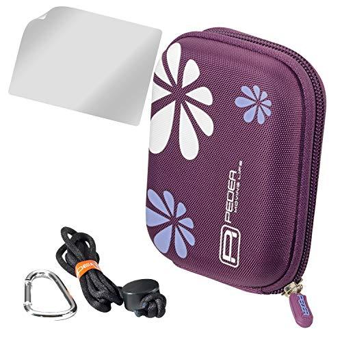 PEDEA Hardcase Kameratasche für Nikon Coolpix A10, A100, L31 / Canon IXUS 160, IXUS 165, IXUS 175, IXUS 185 / Aquapix W1024-R, W1400 / Medion Life E43013 (MD 86821) / Sony DSC-W810, DSC-W830