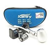 Kamry K1000 E-Pipe Classique Style électronique Shisha Starter Kit Complet Avec étui, 2PCS 900mAh Batteries Grand Vapour Ecig, 510 / EGO Atomiseur de fil Libre Nicotine (Argent)