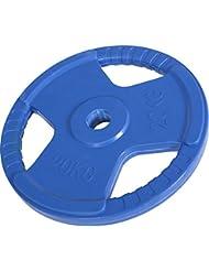 Poids disque 51mm en fonte revêtement caoutchouc de 20kg avec poignée