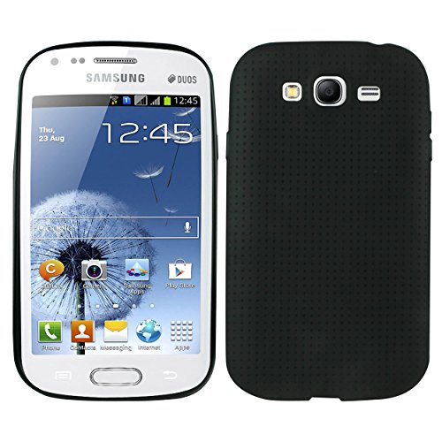 Heartly New Retro Dotted Design Hole Soft TPU Matte Bumper Back Case Cover For Samsung Galaxy Grand Duos I9082 / Galaxy Grand Neo GT-I9060 / Galaxy Grand Neo Plus I9060I - Rugged Black  available at amazon for Rs.319