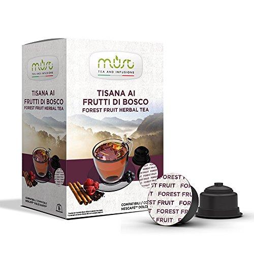 Must Espresso Italiano 96 Capsule Compatibili Dolce Gusto Tisana ai Frutti di Bosco in Foglie - 6 confezioni da 16 capsule