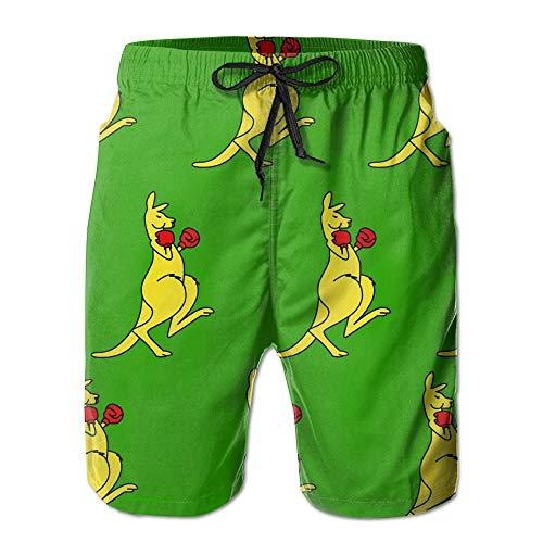 Boxing Kangaroo Golden Beach Pants for Men Medium