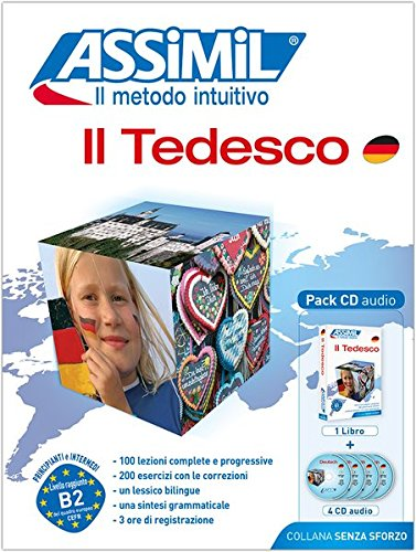 ASSiMiL Il Tedesco: Deutschkurs in italienischer Sprache, Lehrbuch (Niveau A1-B2) + 4 Audio-CDs