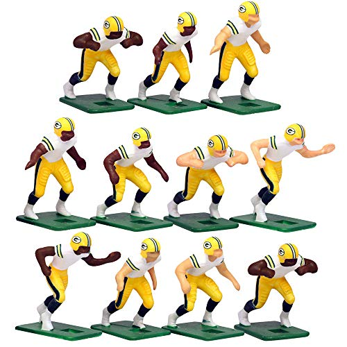 Green Bay Packers?White Uniform NFL Action Figure Set by Tudor Games