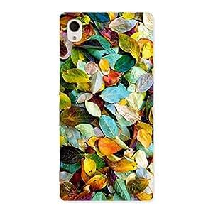 Stylish Beautiful Colorfull Leafs Back Case Cover for Xperia M4 Aqua