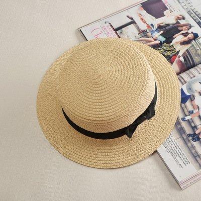Haihuayan Strohhut Sun Flachen Stroh Hut Kreissäge Hut Mädchen Sommer Hüte Für Frauen Strand Flachen Stroh Hut, Beige, 57 Cm (Stroh-hut Krempe Flachen)