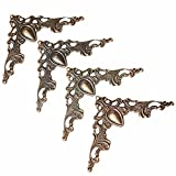 4 Stück Eckenschutz Kantenschutz Metallecken Deko Für Tisch Schmuckkasten Bronze