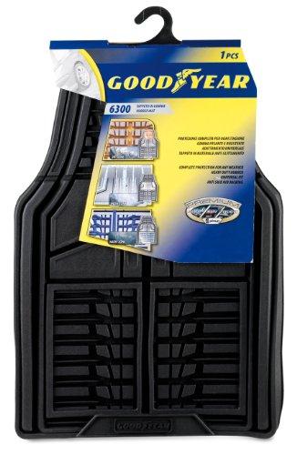 GoodYear 77115 Goodyear 77112: 1 alfombrilla delantera en goma de alta calidad para coche, Negro - Universales, Goodyear 1 Ud: Model 2 - Negro