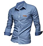 Jeansian Men's Slim Fit Long Sleeve Casual 8615 Shirts