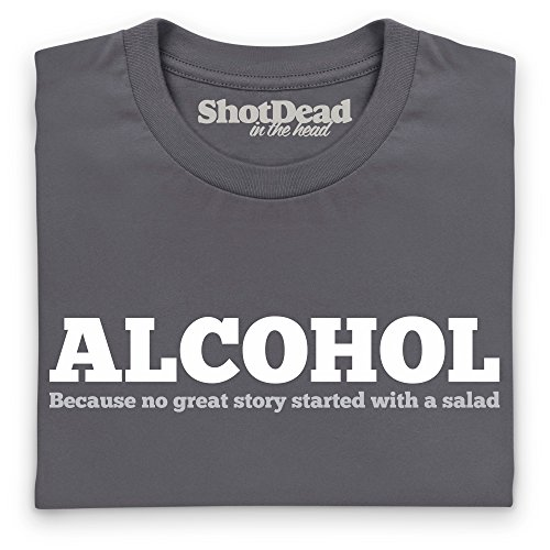 Alcohol T-Shirt, Herren Anthrazit