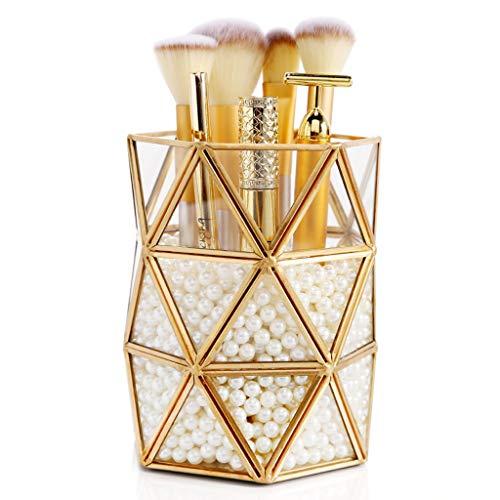 Zhzpsn Kosmetische Aufbewahrungsbox Glas Make-up Cosmetic Organizer Makeup Brush Aufbewahrungsrohr Finishing Box Regal Crystal Brush Eimer
