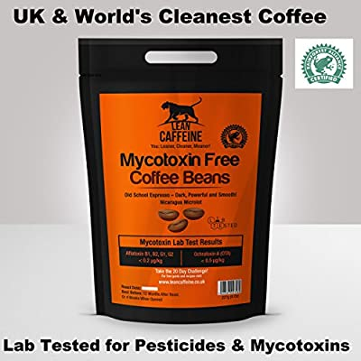 Lean Caffeine Bulletproof Coffee Beans 227g | Pesticide & Mycotoxin Free Upgraded Coffee Beans 227g from Lean Caffeine